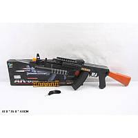 Автомат АК-858, в комплекте идет отстегивающийся штык-нож, при стрельбе загорается подсветка