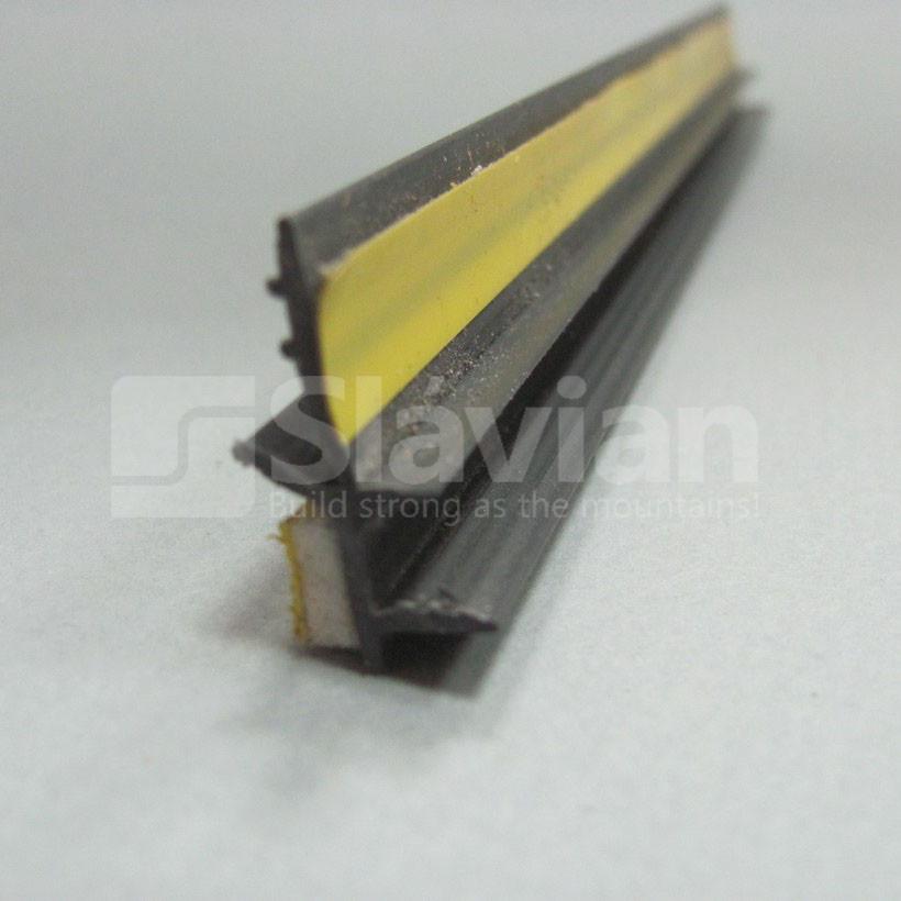 Профиль ПВХ приоконный без сетки, 6мм - 2,5м черный (графит)