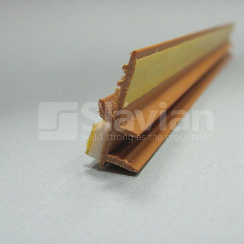 Профіль ПВХ привіконний без сітки, 6мм - 2,5 м світлокоричневий (золотий дуб)