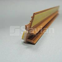 Профиль ПВХ приоконный без сетки, 6мм - 2,5м светлокоричневый (золотой дуб)