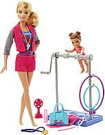 Игровой набор Barbie тренер по гимнастике, (Barbie Gymnastic Coach and Student Dolls Playset), Mattel, фото 1