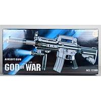 Автомат God of War стреляющий гелиевыми пульками и тактической подсветкой