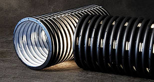 Дренажные трубы GeoDrain (бухта 50м с муфтой) SN4* 100 ПВХ