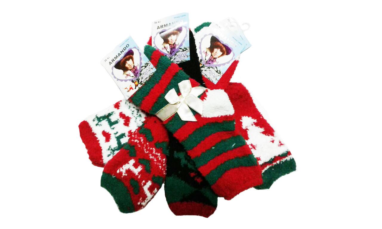 Махровые носки Mr.Pamut/Armando женские (новогодние), размеры 35-41, арт. WP 5502. W-103