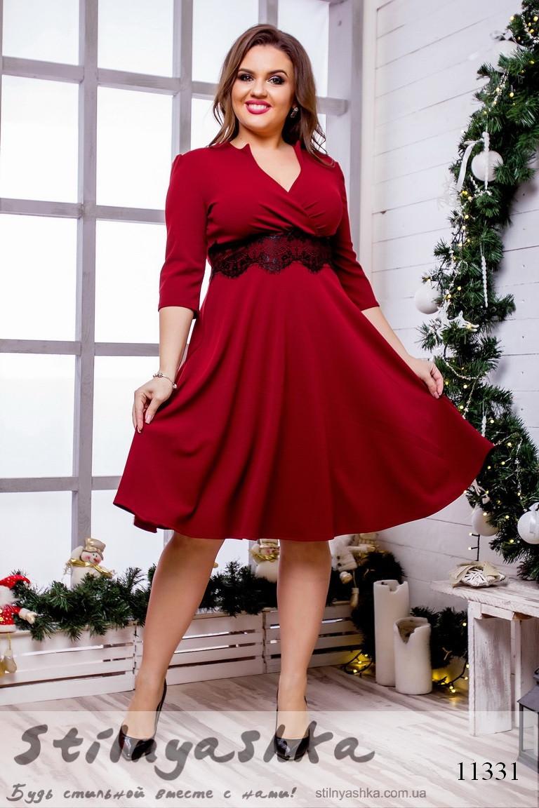 расклешенное платье для полных