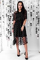 Коктейльное черное платье Нора