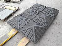 "Колпак бетонный на столб забора 450х450х130(170мм) ""Черепица"""