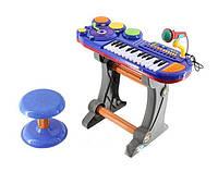 Качественный детский синтезатор со стульчиком и микрофоном BB69B/69D, фото 1