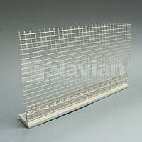 Профиль ПВХ для подоконника с сеткой, 2м (белый)