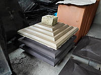 """Колпак бетонный на столб забора 390х390х65мм """"Ступенька"""""""