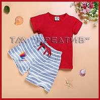 Оптом детские комплекты шорты и футболка (под заказ от 50 шт) с НДС