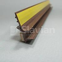 Профиль ПВХ приоконный без сетки, 6мм - 2,5м (коричневый)
