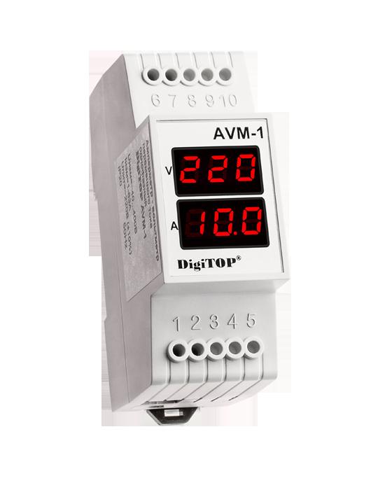 Амперметр AVM-1 DIN перем ток, однофазный