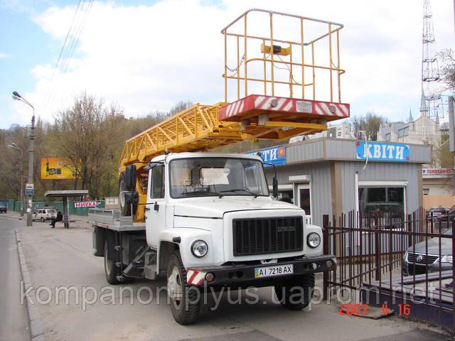 Аренда автовышки 17 метров, услуги автовышки 17 метров