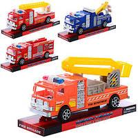 Машинка 963-23-24  инер-я, 7см, 4вида(пожарная,эвакуатор), в слюде, 20-9-6см