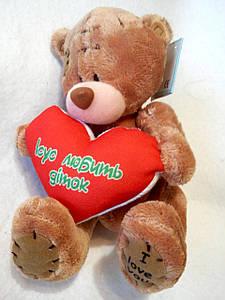 """Іграшка-ведмедик """"Ісус любить діток"""" коричневий"""