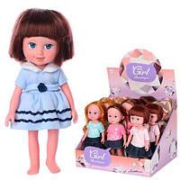 Кукла 170988-989 (36шт) 22см, муз(англ), на бат(табл), 12шт(6видов)в дисплее,31,5-26-25см