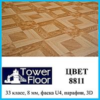 Широкий ламинат с фасками толщиной 8 мм Tower Floor 33 класс, цвет 8811