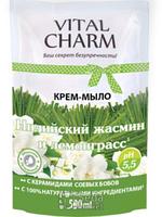 VITAL CHARM крем-мыло дой-пак «Индийский жасмин и лемонграсс» 500 мл (4820091145239)