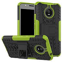 Чехол Motorola Moto E Plus / E4 Plus / XT1771 / XT1770 / XT1773 противоударный бампер салатовый