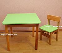 Детский Стол и стульчик Цветной (дерево/мдф)