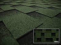 Битумная черепица Kerabit коллекция Квадро, форма L, цвет зелено-черный 79001