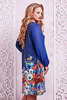 Женское платья в цветах больших размеров