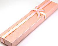 Коробка подарочная 21,5*4*2см, розовая