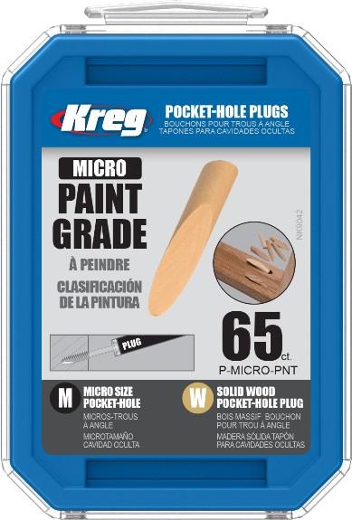 Заглушка деревянная для Micro-Pocket (под покраску) 65 шт.