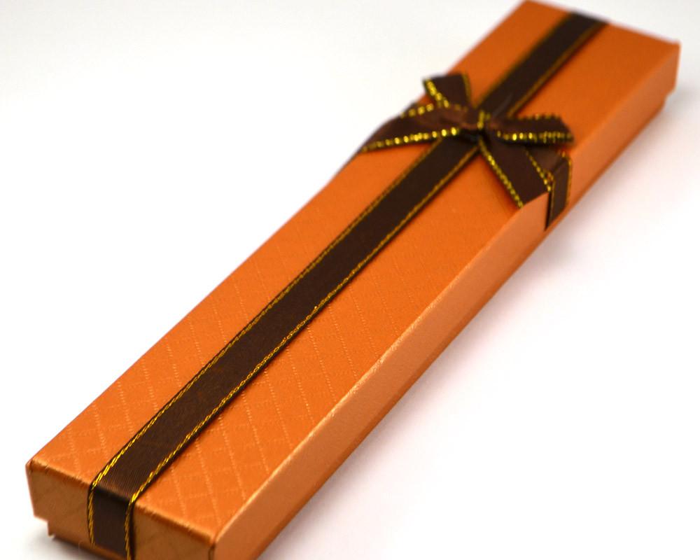 Коробка подарочная 21,5*4*2см, терракотовая