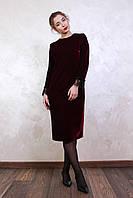 Новогоднее платье из бархата Анри цвета марсал