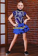Джинсовая юбка-шорты D7 Сердечки