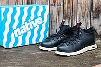 Ботинки мужские зимние черные Native Shoes Fitzsimmons (реплика)