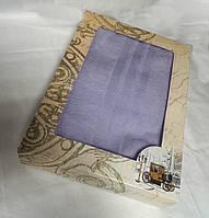 Махровое однотонное полотенце для сауны СЕРОЕ в подарочной упаковке