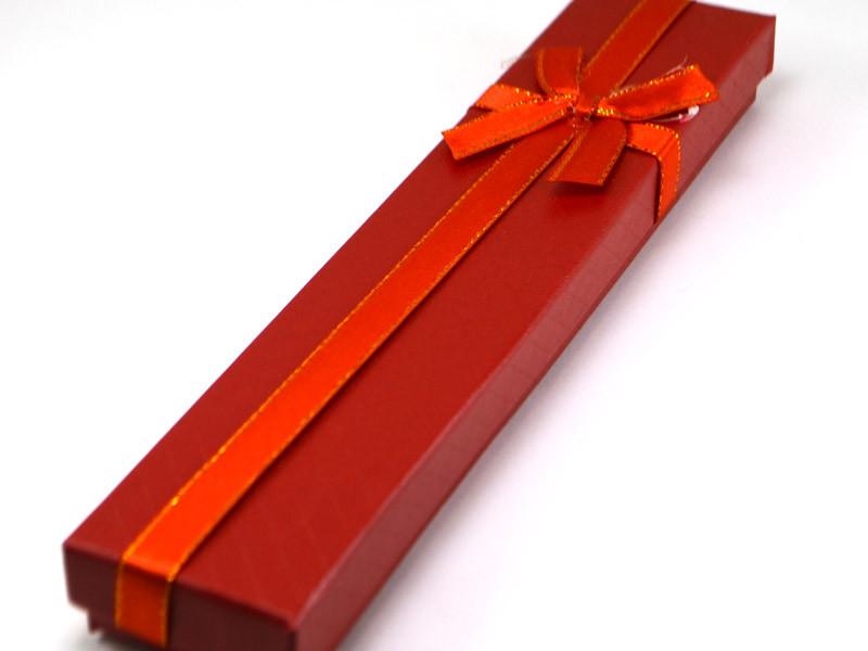 Коробка подарочная 21,5*4*2см, красная