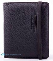 Стильная кредитница Piquadro Modus для 20 кредитных карт из натуральной кожы, черная PP1395MO_N
