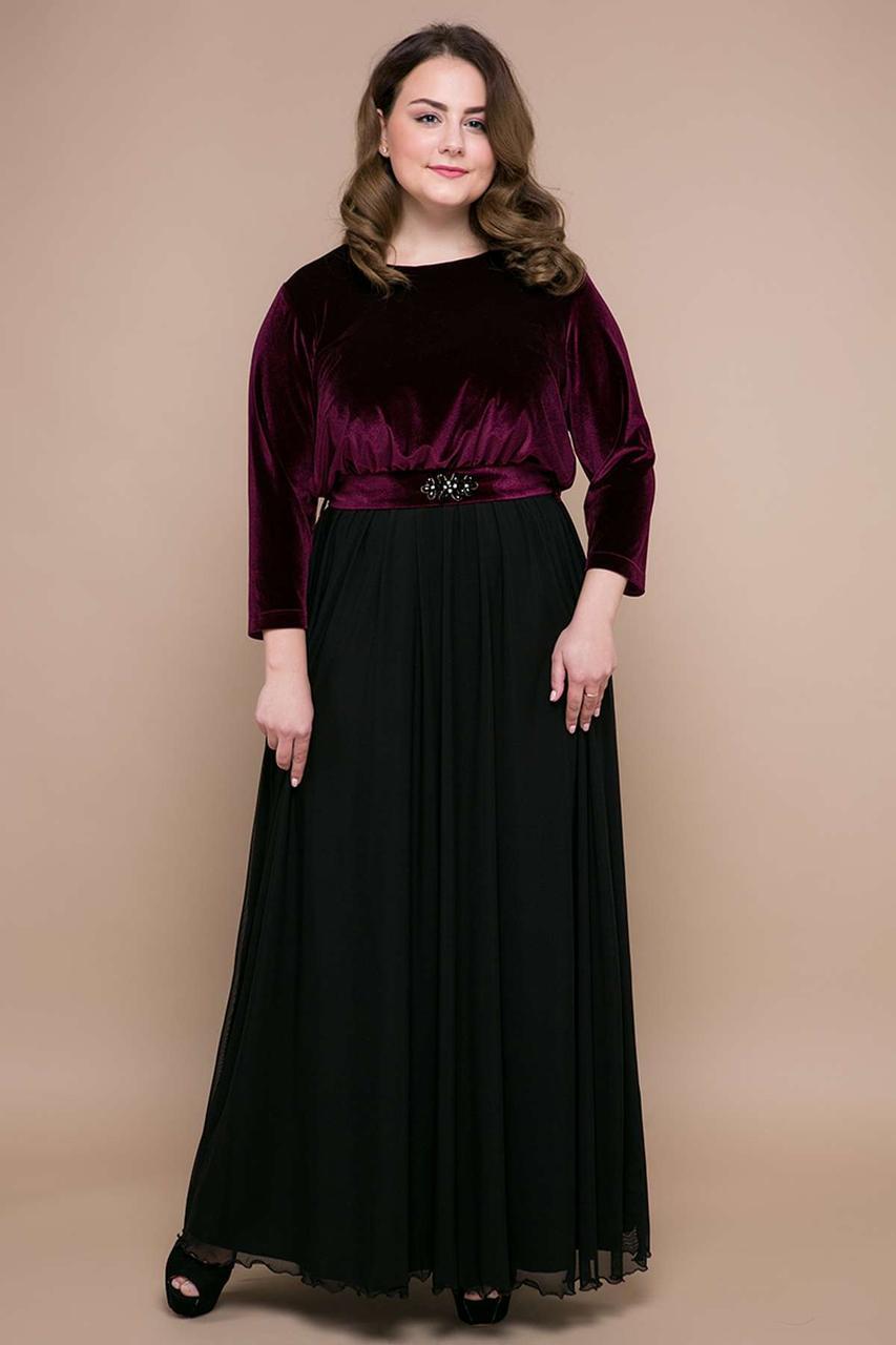 876a74e9b525cb9 Купить Нарядное вечернее платье бархатное в пол Большие размеры по ...