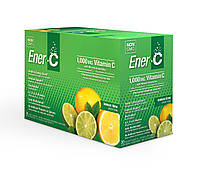 Ener-C, Vitamin C, Шипучий Порошковый Витаминный Напиток, Вкус Лимона и Лайма, 30 пакетиков