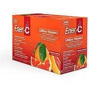 Шипучий Порошковый Витаминный Напиток, Вкус Мандарина и Грейпфрута, Vitamin C, Ener-C, 30 пакетиков