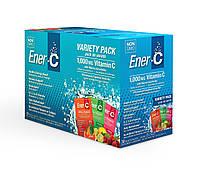 Шипучий Порошковый Витаминный Напиток, Ассорти, Vitamin C, Ener-C, 30 пакетиков