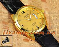 Мужские наручные часы Tissot Quartz PRC 200 Calendar Gold кварцевые японский механизм