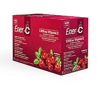 Ener-C, Vitamin C, Шипучий Порошковый Витаминный Напиток, Вкус Клюквы, 30 пакетиков