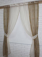 Кухонная занавесь, шторки гардина с подвязками е320