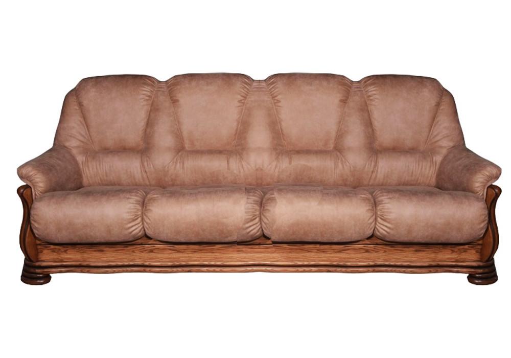 Четырехместный кожаный диван Саванна
