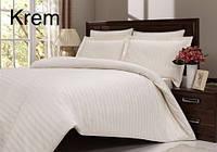 Комплект постельного белья сатин Altinbasak евро размер Ekru