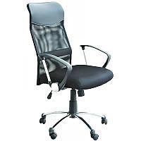 Кресло ULTRA (Ультра)   черный кожзам \сетка с-11 (кресло офисное, кресло руководителя