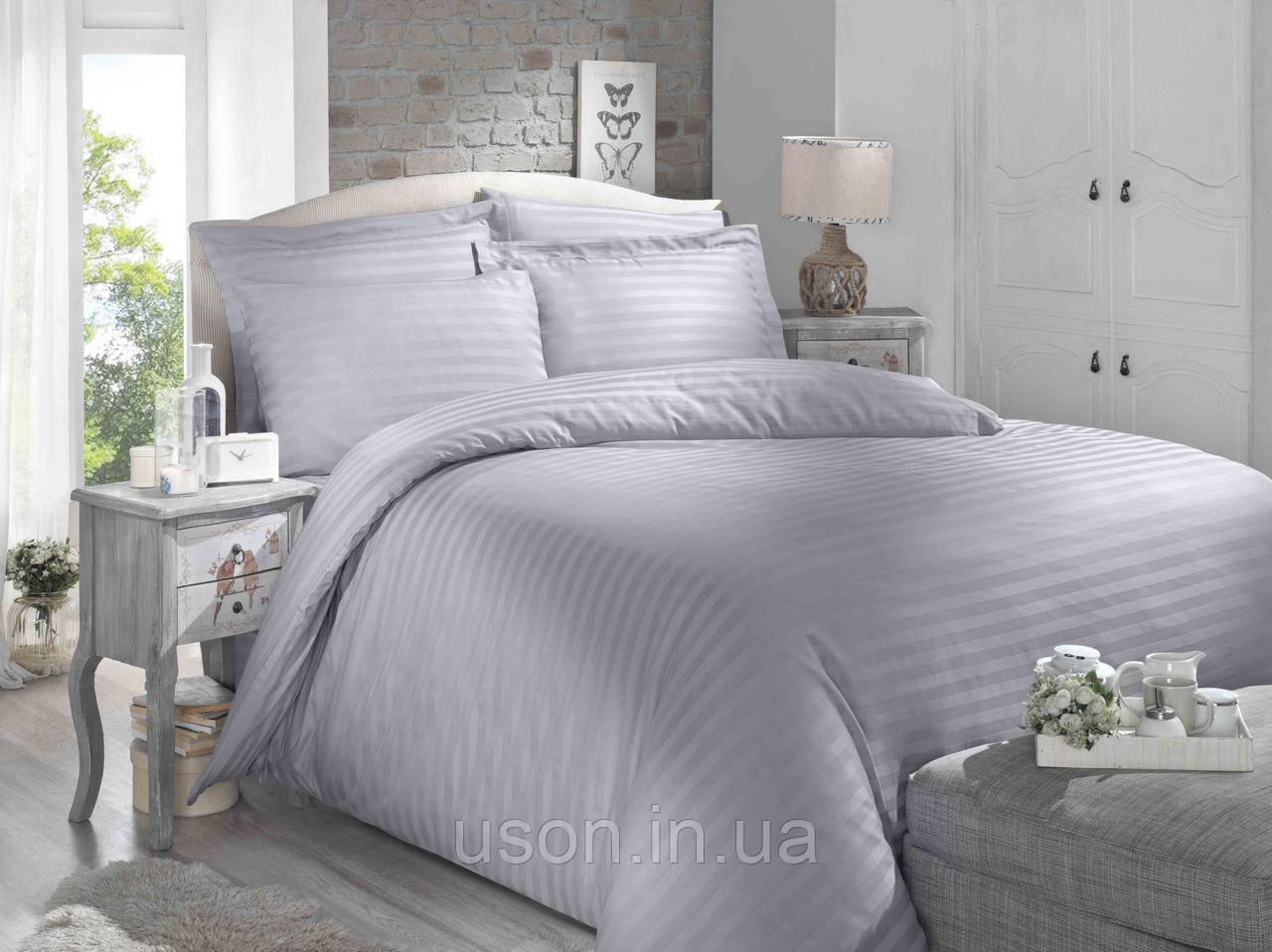 Купить Комплект постельного белья сатин Altinbasak евро размер Gri
