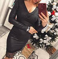 Ангоровое платье с франц. кружевом
