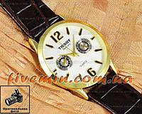 Мужские наручные часы Tissot Quartz Gold Black White кварцевые японский механизм