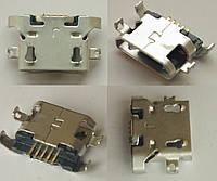 Коннектор зарядки Micro USB (гнездо, разъем зарядки) для мобильного телефона Lenovo A300. №12